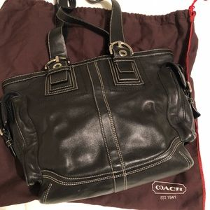 Coach Leather Tote / Shoulder Bag